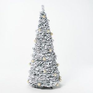 6' Flocked Pre-Lit Pop-Up Tree